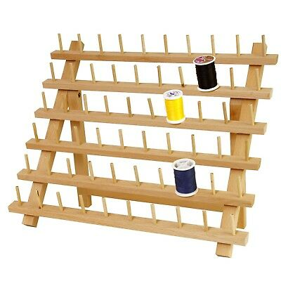 60 120 Spool Sewing Thread Rack Holder Wooden Embroidery Stand