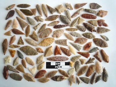 Neolithic Arrowheads x 100, Selection of Styles and Sizes - 4000BC - (1107)
