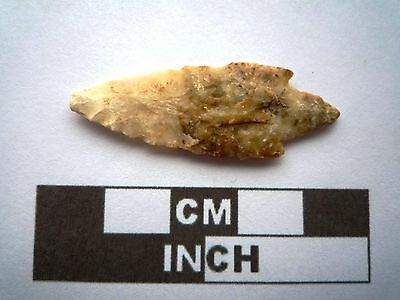 Neolithic Arrowhead 41mm, Saharan Flint Artifact - 4000BC  (N024)