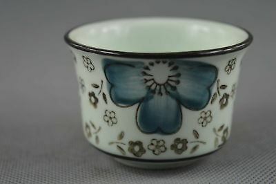 Fine Collectable Handwork Decor Porcelain Paint Blooming Flower Auspicious Cup