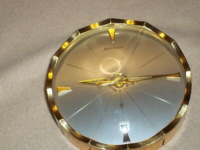 jaeger le coultra desk clock with date (model number 362) works perfect