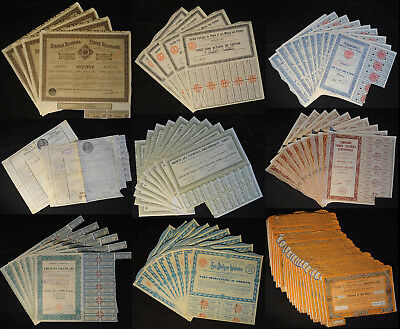 Gigantic lot - more than 1,500 old bonds and shares with more than 400 different