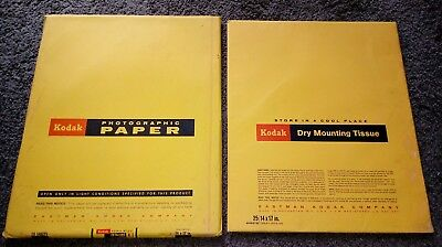 Vintage 14x17 Kodak Photographic Paper Ektalure Double Weight & Dry Mount Tissue