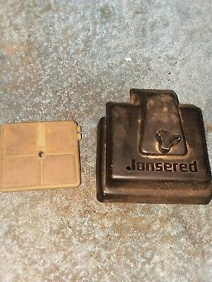 JONSERED 535 CHAINSAW air filter and cover  nice used OEM ---------------BIN1018