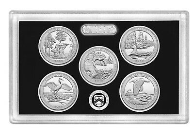 2018 S Silver Proof ATB Quarter 5 PC Set **PRESALE**