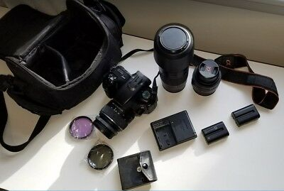 Sony Alpha SLT-A65 24.3MP Digital SLR Camera with 3 Lens and 2 batteries!!