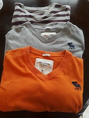Abercrombie t shirt lot of 2 and 1 AE Outfitter size M they fit like small