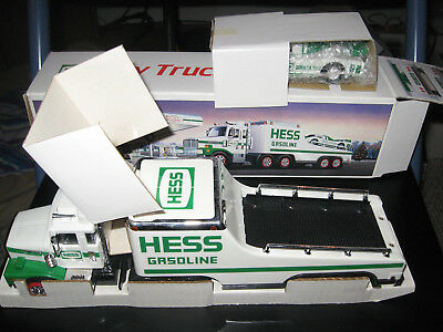 1988 Hess Truck w/ Racer, Original Package Never Played With complete with box