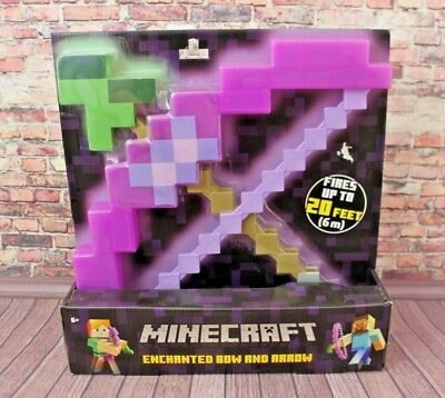 Minecraft Enchanted Bow And Arrow NIB Roleplay FIRES up to 20 FEET