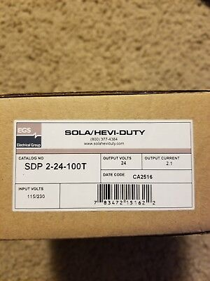 New In Box Sola Sdp2-24-100T Power Supply 120V Input 24Vdc Output 2.1A