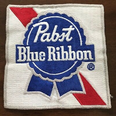 PABST BLUE RIBBON BEER PBR PATCH Vintage Collectible Cool Original Sew On LARGE