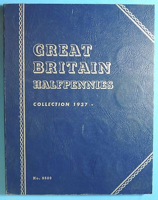 1937 - 1963 Great Britain Half Penny Pennies 30 Coin Date Set in Whitman Album