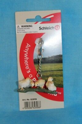 Schleich Keychain Key Chain Baby Chicken Chicks Farm Animal NEW on card