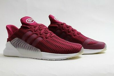 reputable site 2ba92 1ab73 Adidas Mens Climacool 0217 Ruby Red White Running Shoes BZ0247
