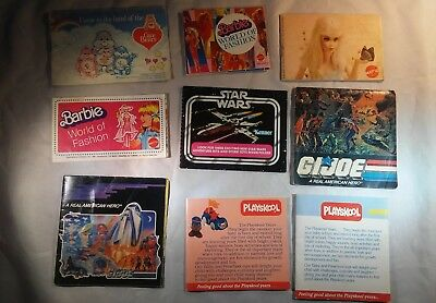 Lot of various toy catalogs, Star Wars, Barbie, GI Joe