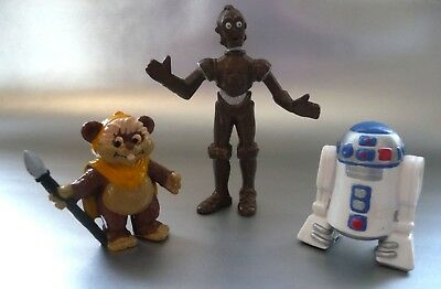 Figurine Ancienne Star Wars / Lucas Film / R2D2 - Ewoks - C3Po