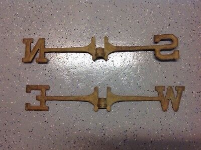 """Vintage BRASS Antique Weathered Weathervane Directionals N S E W 23"""""""