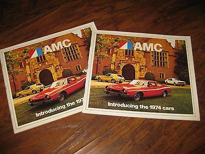 Lot of 2 Original 1974 AMC American Motors Full Line Sales Brochure / Very Nice!