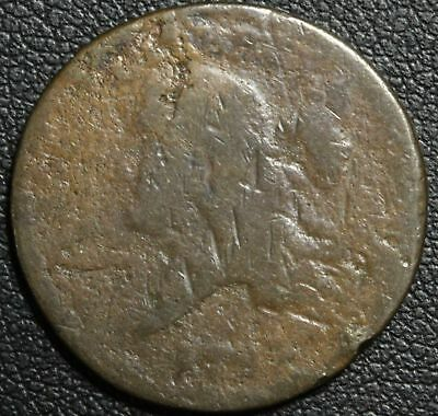 1793 Flowing Hair Liberty Cap Copper Half Cent - Super Scarce Rarity!