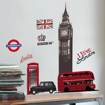 WALL STICKERS LONDON LONDRA Extra Large cm 50x70 (O2p)