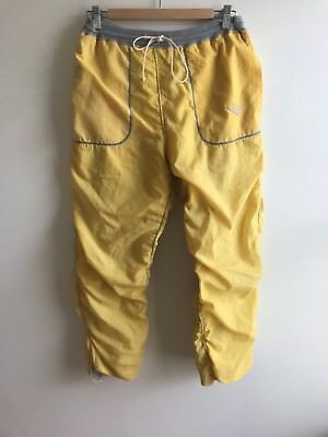 Vintage PONY 80's Medium Athletic Track Pants Yellow Nylon Perfect Condition!