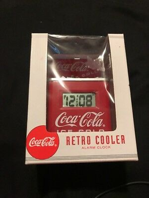 Coca-Cola Retro Cooler Alarm Clock 1996 Issue, New in Box ~ Great Gift!