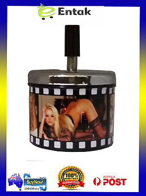 Metal Ashtray With Spin Top - Playboy - Man Cave - Tobacco - Bar - XXX Girls