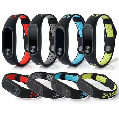 For XIAOMI MI Band 2 Bracelet Replacement Soft Silicone Adjustable Wrist Strap