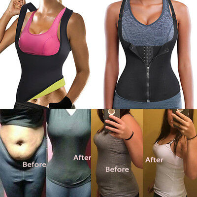 af424f347b04d US Women s Waist Trainer Corset For Weight Loss Neoprene Body Shaper Vest  Sauna