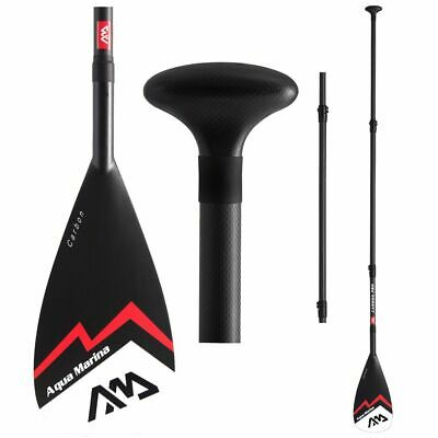 Aqua Marina SUP Paddle Carbon Pro Red Carbon Lightweight Stand-Up board Oar