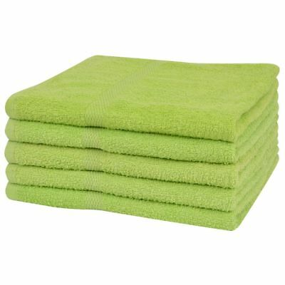 vidaXL 5x Sauna Towels 100% Cotton 360 g/m² 80x200 cm Green Bathroom Washcloth
