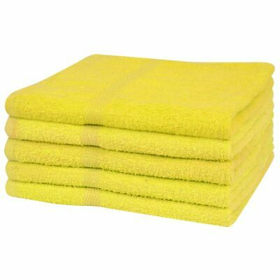 vidaXL 5x Bath Towels 100% Cotton 360 g/m² 100x150 cm Yellow Bathroom Washcloth