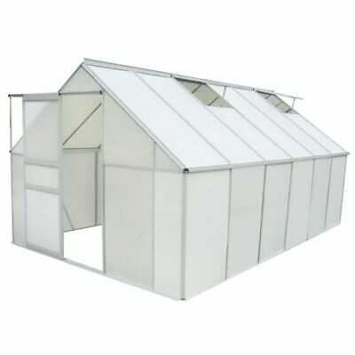 vidaXL Greenhouse Polycarbonate and Aluminium 371x250x195 cm Garden Plant House