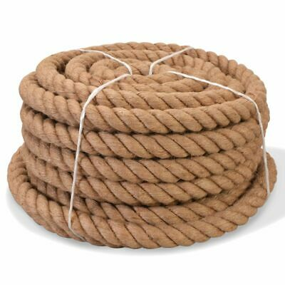 vidaXL Rope 100% Jute 30mm 30m Boat Rope Cable Wire Decking Lifting Swing