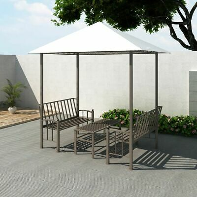 vidaXL Garden Pavilion with Table and Benches 2.5x1.5x2.4m Gazebo Marquee