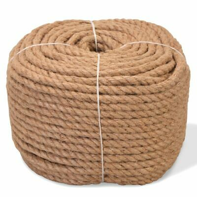 vidaXL Rope 100% Jute 8mm 500m Boat Rope Cable Wire Decking Lifting Swing