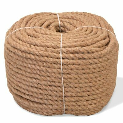 vidaXL Rope 100% Jute 10mm 100m Boat Rope Cable Wire Decking Lifting Swing