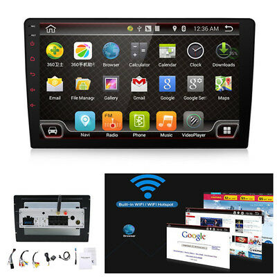 "Android 7.1 Car 9"" GPS FM Wifi 3G/4G OBD Quad-Core Radio Stereo Head Unit Player"