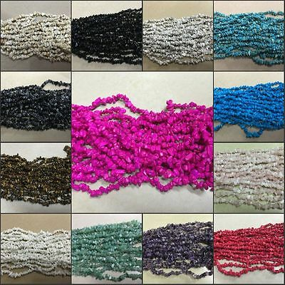 Fashion 5-8mm Freeform Chips Jewelry DIY Making loose gemstone beads strand 16""