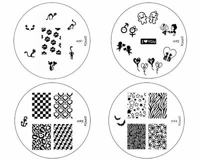 Konad Stamping Nail Art Image Plates M1 S10 Free Shipping Each Additional Item