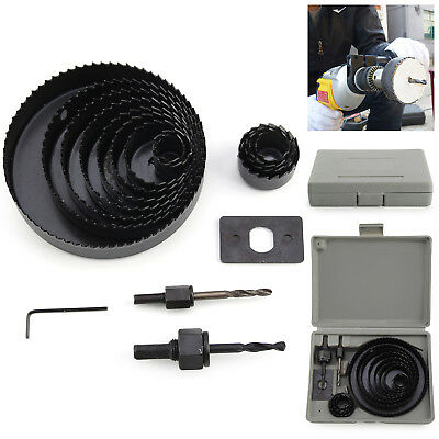 17pc SAW KIT SET 19-127mm Hole Saw Cutter Set Metal Alloy Plastic wood downlight