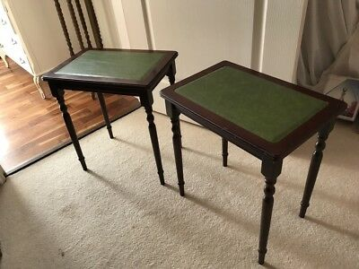 Pair of mahogany tables