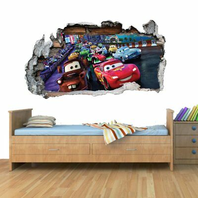 GNG Disney Cars Planes Smashed Wall Art Decalcomania del vinile Adesivi (P9v)