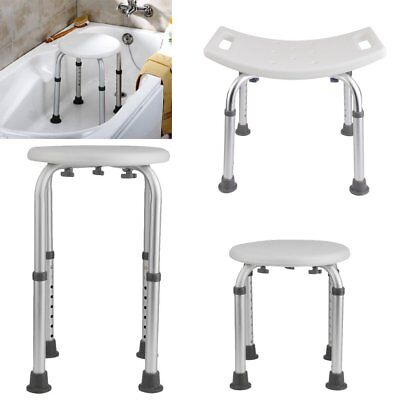150kg Taburete ducha Badhocker Silla Hocker Bad Tritt Hocker Baño blanco BY