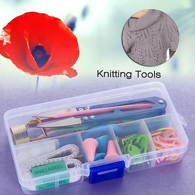 1 Set Home DIY Knitting Tools Crochet Yarn Hook Stitch Weave Accessories New GV