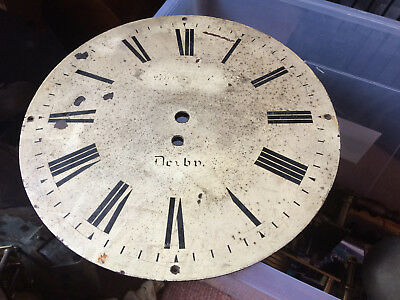 Antique Clock Face In Need Of Restoration