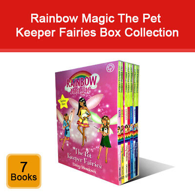 Rainbow Magic Pet Keeper Fairies series Daisy Meadows 7 books collection box set