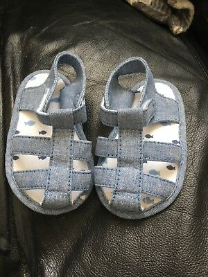 Baby Boys Sandals Age 6-9 Months From George