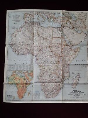 vintage map of africa 1950