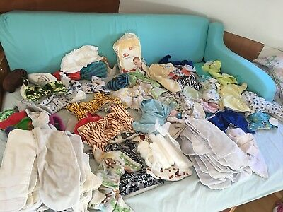 Job Lot 65+  Reusable Nappies from Birth to Potty